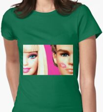 BARBIE AND KEN: KISS Womens Fitted T-Shirt