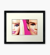 BARBIE AND KEN: KISS Framed Print