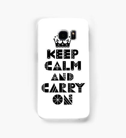 Keep Calm Carry On - black Samsung Galaxy Case/Skin