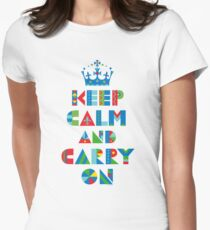 Keep Calm Carry On - on lights Womens Fitted T-Shirt
