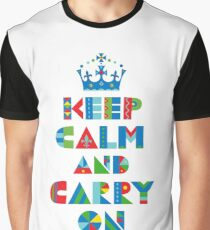 Keep Calm Carry On - on lights Graphic T-Shirt