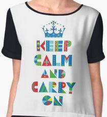Keep Calm Carry On - on lights Chiffon Top
