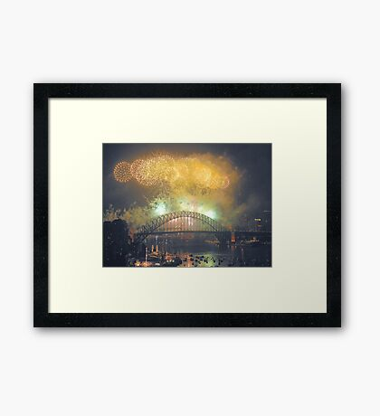 The Emerald City - New Years Eve  , Sydney Harbour    Framed Print