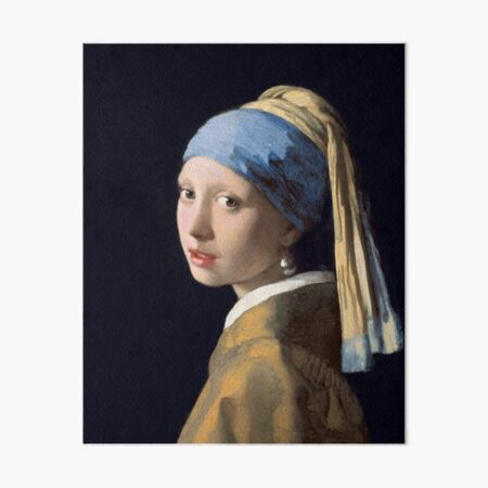 The Girl With The Pearl Earring - Classic Painting Art Board Print