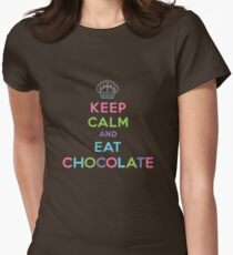 Keep Calm and Eat Chocolate   Womens Fitted T-Shirt