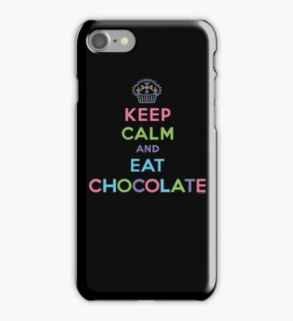 Keep Calm and Eat Chocolate   iPhone Case/Skin