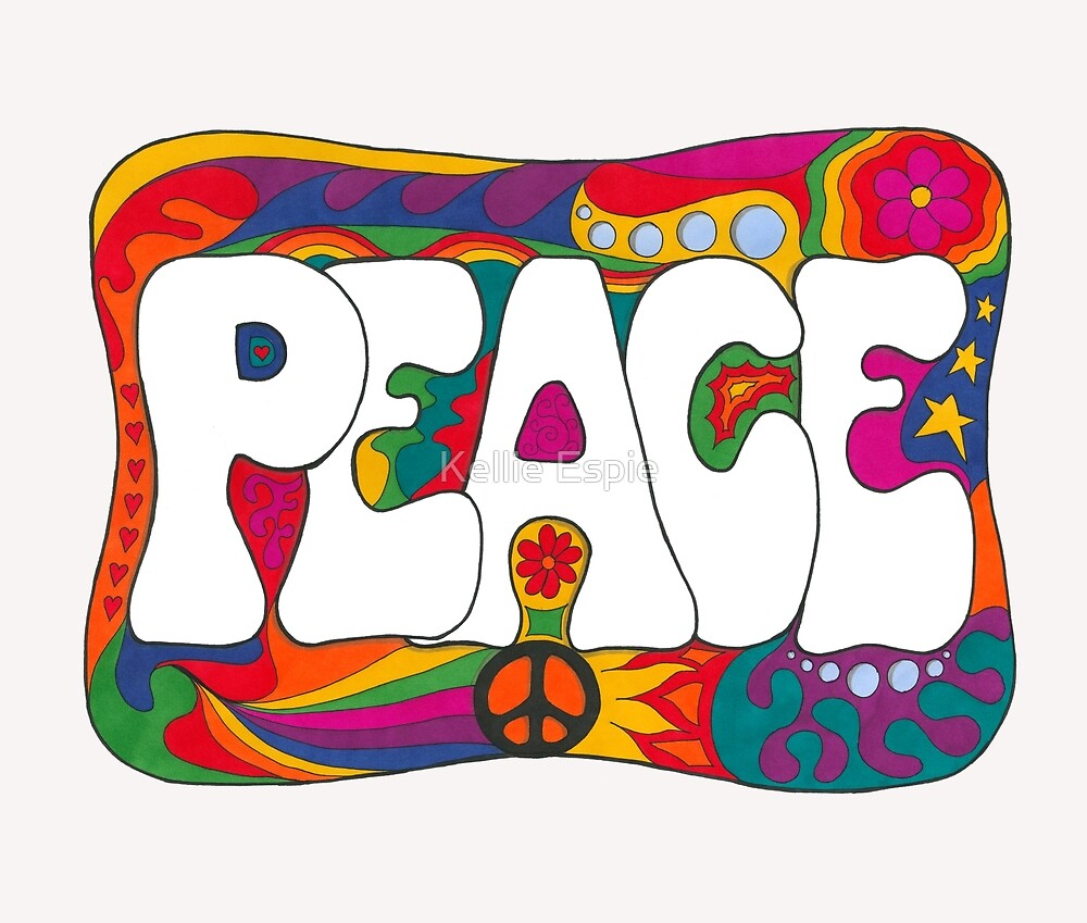 Psychedelic Peace and Love by Kellie Espie