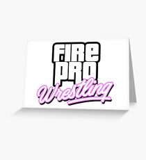 Fire Pro Wrestling - VICE CITY Greeting Card