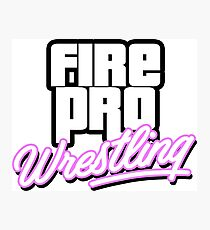 Fire Pro Wrestling - VICE CITY Photographic Print