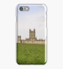 Green rolling hills towards Downton abbey iPhone Case/Skin