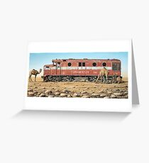 Remnants of the Old Ghan Line Greeting Card
