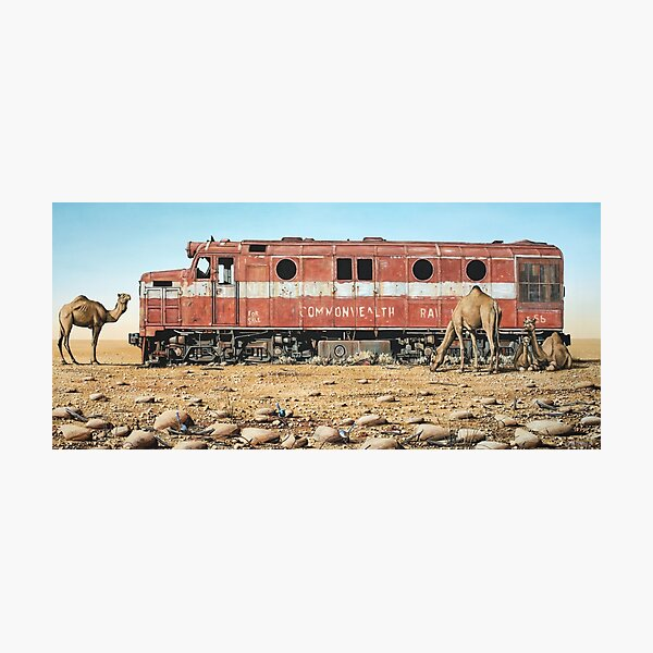 Remnants of the Old Ghan Line Photographic Print