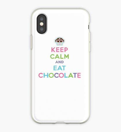Keep Calm and Eat Chocolate  - lights iPhone Case