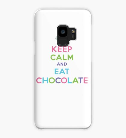 Keep Calm and Eat Chocolate  - lights Case/Skin for Samsung Galaxy