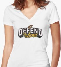 Defend the Land Women's Fitted V-Neck T-Shirt