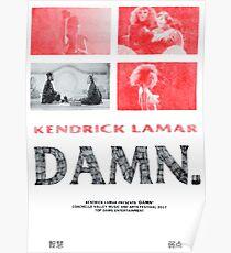 Kendrick Lamar - Damn.  Poster