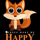 Foxes Make Me Happy by Adamzworld