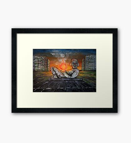 Chacmool Framed Print