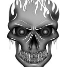 Flame Skull - Silver by Adamzworld