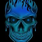 Flame Skull - Blue (2) by Adamzworld