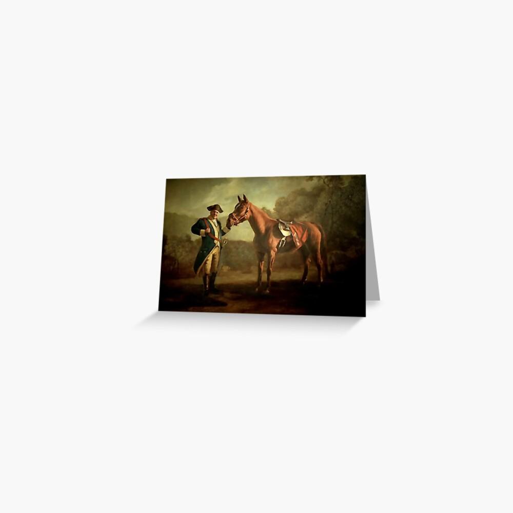 General Tony Soprano und sein Pferd Grußkarte