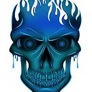 Flame Skull - Blue by Adamzworld