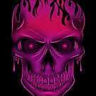 Flame Skull - Hot Pink (2) by Adamzworld