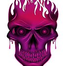 Flame Skull - Hot Pink by Adamzworld