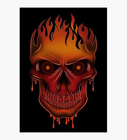 Flame Skull (2) Photographic Print