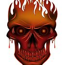 Flame Skull by Adamzworld