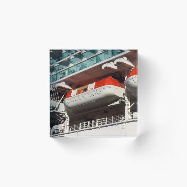 Cruise Ship Lifeboats Acrylic Block