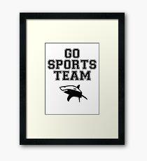 GO SPORTS TEAM SHARKS Framed Print