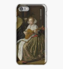 Jan Molenaer - A Young Man And Woman Making Music iPhone Case/Skin