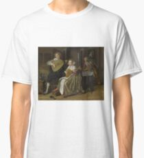 Jan Molenaer - A Young Man And Woman Making Music Classic T-Shirt