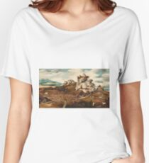 Jan Jansz Mostaert - Landscape With An Episode From The Conquest Of America, 1535 Women's Relaxed Fit T-Shirt