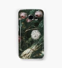 Jan Fyt - Vase Of Flowers And Two Bunches Of Asparagus Samsung Galaxy Case/Skin