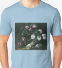 Jan Fyt - Vase Of Flowers And Two Bunches Of Asparagus Unisex T-Shirt