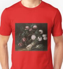 Jan Fyt - Vase Of Flowers And Two Bunches Of Asparagus T-Shirt