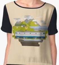 Railway Locomotive #40 Women's Chiffon Top