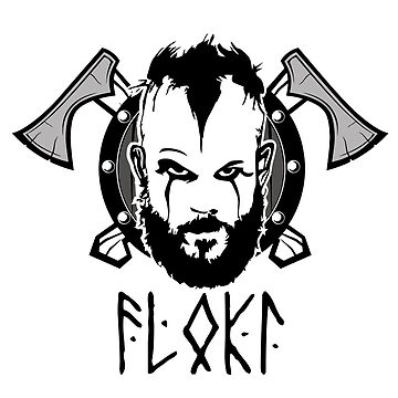 Floki Face with Tomahawks by CasualMood