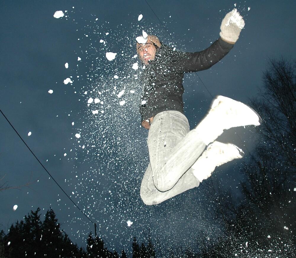 Snow jump by Cammi