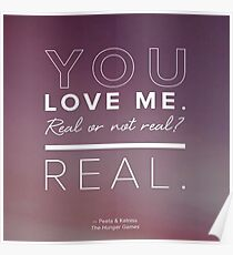 You Love Me, Real or Not Real? Poster