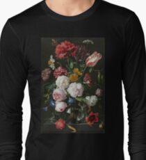 Jan Davidsz. De Heem - Still Life With Flowers In A Glass Vase, 1683 Long Sleeve T-Shirt