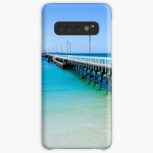 Beachport Jetty on a perfect day, South Australia Samsung Galaxy Snap Case