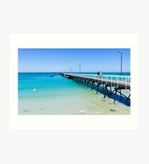 Beachport Jetty on a perfect day, South Australia Art Print