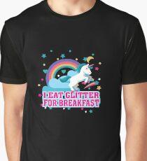 I Eat Glitter For Breakfast - Funny Magical Unicorn  Graphic T-Shirt