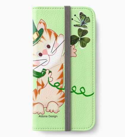 Kitty on St.Patrick's day (1887 Views) iPhone Wallet