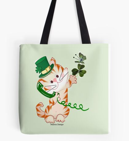 Kitty on St.Patrick's day (1863 Views) Tote Bag