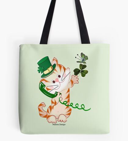 Kitty on St.Patrick's day (1879 Views) Tote Bag