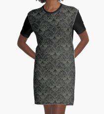 Stegosaurus Lace - Black / Grey Graphic T-Shirt Dress